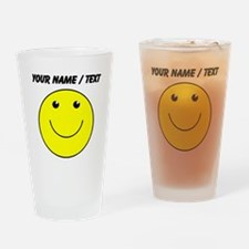 Custom Yellow Smiley Face Drinking Glass