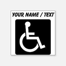 Custom Handicapped Sign Sticker