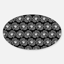 Black and White Gerbara Daisy Patte Decal