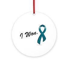 I Won Ovarian Cancer Survivor Ornament (Round)