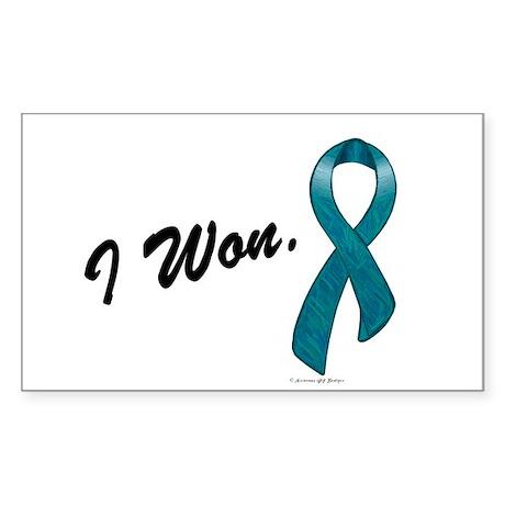 I Won Ovarian Cancer Survivor Rectangle Sticker