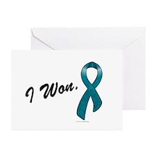 I Won Ovarian Cancer Survivor Greeting Cards (Pk o