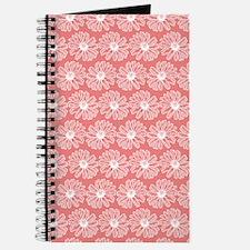 Light Coral Gerbara Daisy Pattern Journal