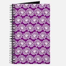 Purple and White Gerbara Daisy Pattern Journal