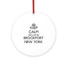 Keep calm we live in Brockport Ne Ornament (Round)