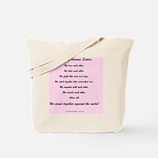 The Bond Between Sisters Tote Bag