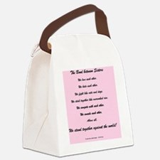 The Bond Between Sisters Canvas Lunch Bag