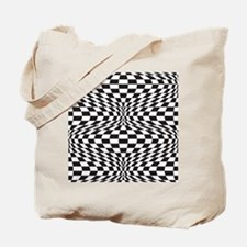 Op Art Checks Tote Bag