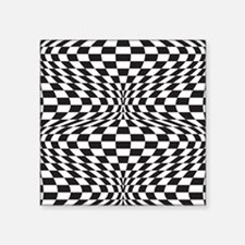"Op Art Checks Square Sticker 3"" x 3"""