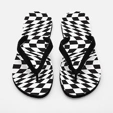Op Art Checks Flip Flops