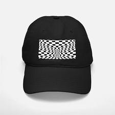 Op Art Checks Baseball Hat