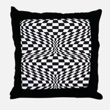 Op Art Checks Throw Pillow