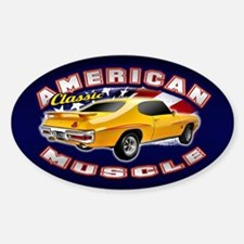 American Muscle - GTO 2 Sticker (Oval)