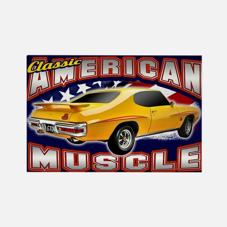 American Muscle - GTO 2 Rectangle Magnet