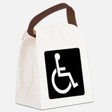 Handicapped Sign Canvas Lunch Bag