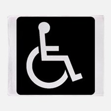 Handicapped Sign Throw Blanket