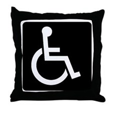 Handicapped Sign Throw Pillow