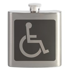 Handicapped Sign Flask