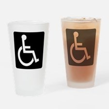 Handicapped Sign Drinking Glass
