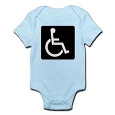 Handicapped Sign Body Suit