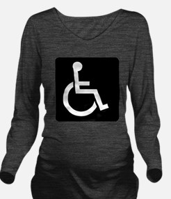 Handicapped Sign Long Sleeve Maternity T-Shirt