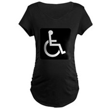 Handicapped Sign Maternity T-Shirt