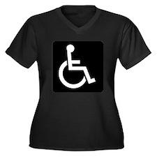 Handicapped Sign Plus Size T-Shirt