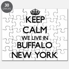 Keep calm we live in Buffalo New York Puzzle
