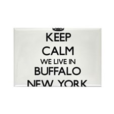 Keep calm we live in Buffalo New York Magnets