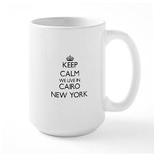Keep calm we live in Cairo New York Mugs