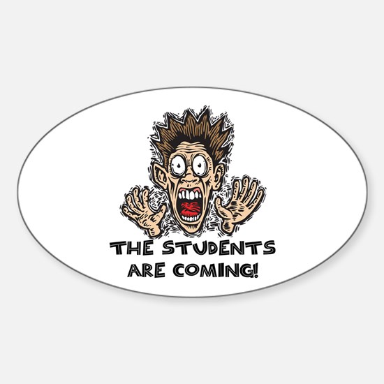 Funny Teacher Gifts Oval Decal