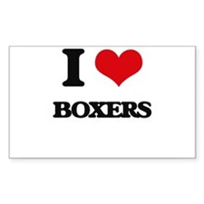 I love Boxers Decal