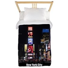 Times Square New York City Pro photo Twin Duvet