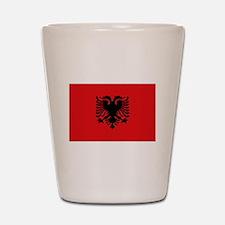 Albanian flag Shot Glass