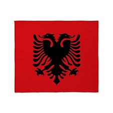 Albanian flag Throw Blanket