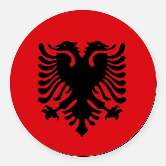 Albanian flag Round Car Magnet