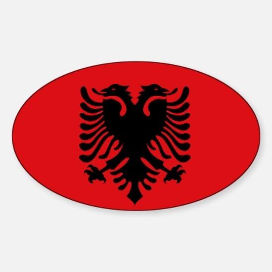 Albanian flag Sticker (Oval)