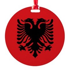 Albanian flag Ornament