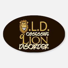 Funny Lion Sticker (Oval)