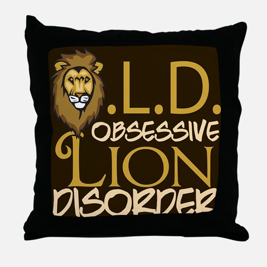 Funny Lion Throw Pillow