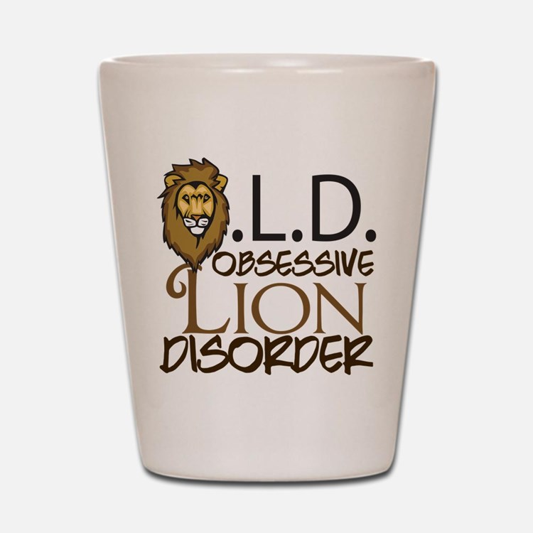Funny Lion Shot Glass