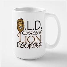 Funny Lion Large Mug