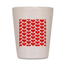 Two Hearts Shot Glass