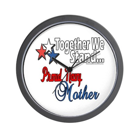 Proud Navy Mother Wall Clock