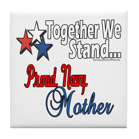 Proud Navy Mother Tile Coaster