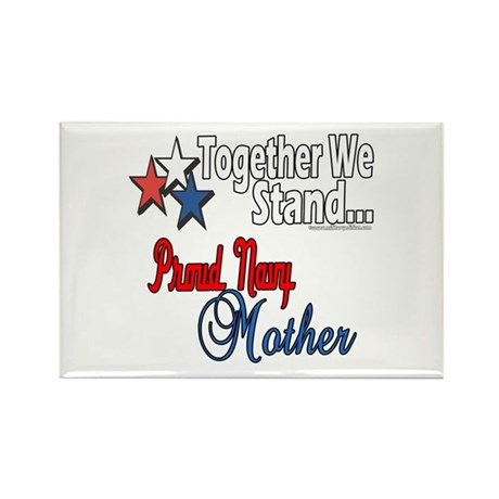 Proud Navy Mother Rectangle Magnet