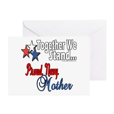 Proud Navy Mother Greeting Cards (Pk of 10)