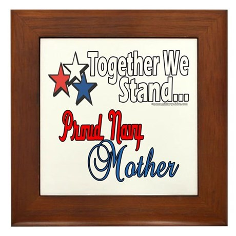 Proud Navy Mother Framed Tile