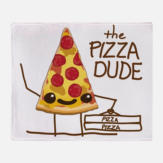 The Pizza Dude Throw Blanket