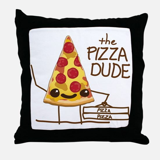 The Pizza Dude Throw Pillow